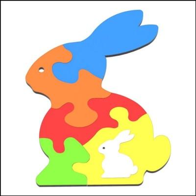 DIY 3D 토끼 퍼즐 (6pcs)