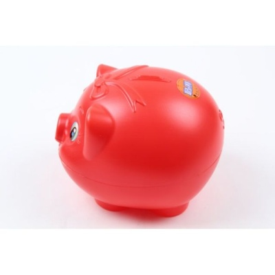 탤런트 돼지저금통(특대) 빨간 동전 저축 저금 지폐