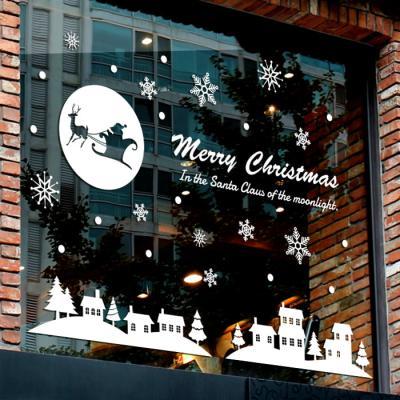 제제데코 크리스마스 눈꽃 스티커 장식 CMS4J147