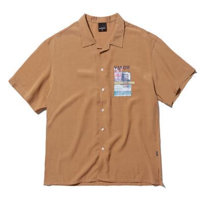 베이퍼 웨이브 셔츠 (BEIGE)