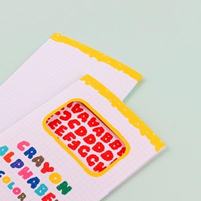 크레파스 알파벳 숫자 스티커 12가지 컬러 세트