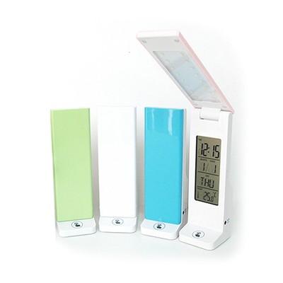 휴대용 터치 LED2단 스탠드 탁상시계