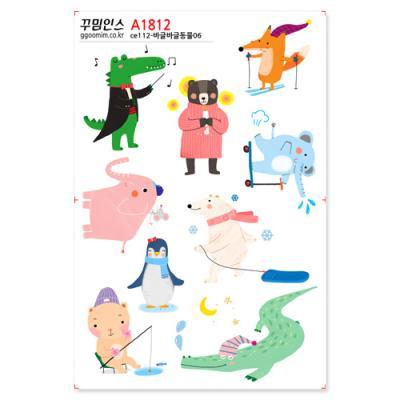 A1812-꾸밈인스스티커_바글바글동물06