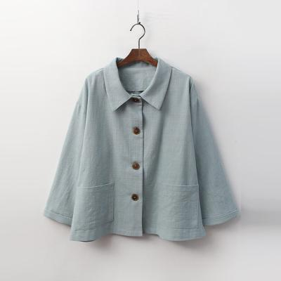 Linen Cotton Button Jacket