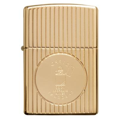 ZIPPO 라이터 49631 Armor® Gold Plated Deep Carve