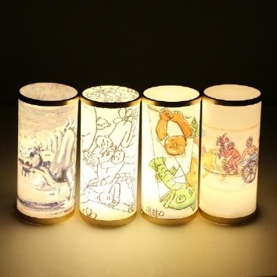 이중섭그림 아트램프/led램프/흰소/취침등/인테리어