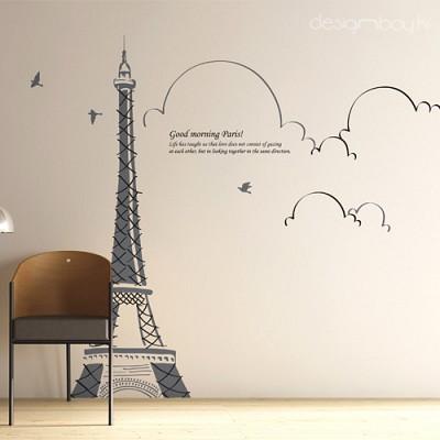 [디자인베이] 스티치에펠 (반제품A타입) 그래픽스티커 풍경여행 포인트 시트지