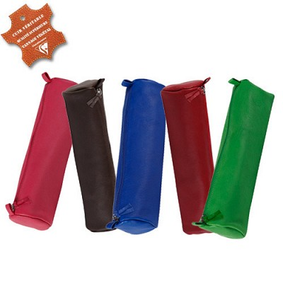 New [클레르퐁텐]베지터블테닝 양가죽 원형필통(색상5가지)