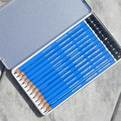 [STAEDTLER] 전문가용 연필세트..독일 스테들러 Mars Lumograph Metal tin 100 G12