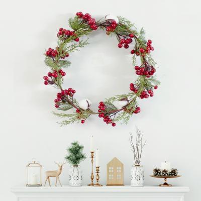 크리스마스 리치 목화 레드 베리 가렌더