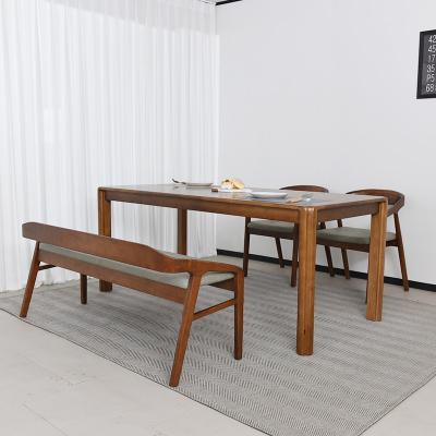 키츠 고무나무 원목 4인 벤치형 식탁세트