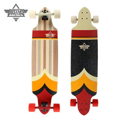 [DUSTERS] 38 TOTEM RED/ORANGE V-PLY TOP MOUNT LONGBOARD COMPLETE
