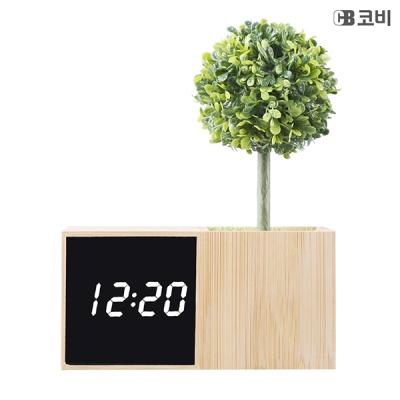 유엠투 BL70 대나무 무소음 LED 알람 시계