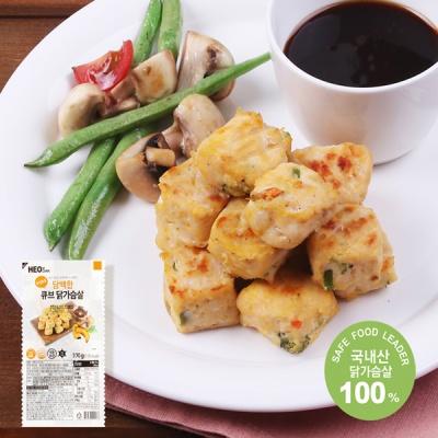 [허닭] 닭가슴살 큐브 담백한맛 100g