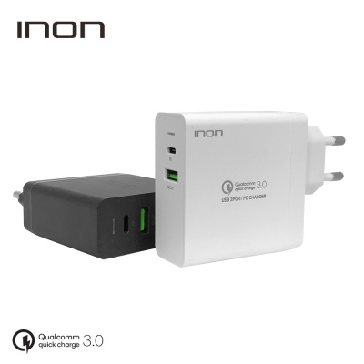 QC3.0 63W 2포트 USB PD 고속 멀티충전기 IN-UC210P
