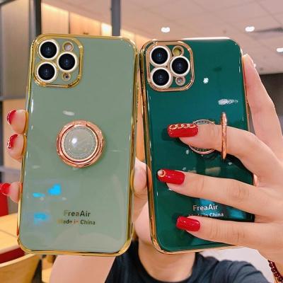 아이폰11 pro max xr xs 골드라인 핑거링 젤리 케이스