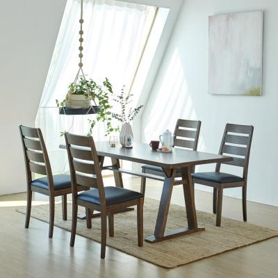 [리비니아]카이 루디 고무나무원목 4인용 식탁세트
