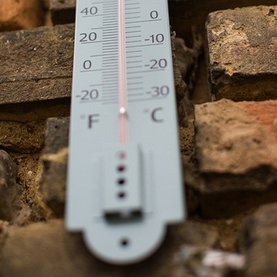Annecy Thermometer In Shutter Clay