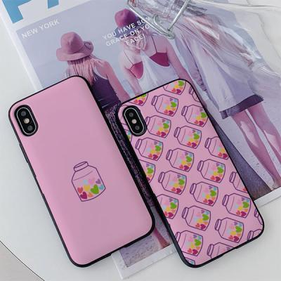 아이폰8 써니 하트약병 카드케이스