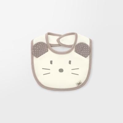 [메르베] 베이지마우스 아기턱받이/침받이_사계절용