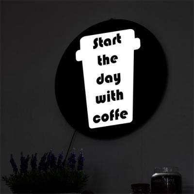 ne832-LED액자45R_커피와함께하는하루