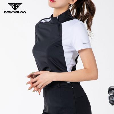다운블로우-DB1005W여자골프반팔반집업티셔츠