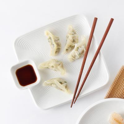트윈 서빙플레이트 만두 초밥 회 접시(사각)
