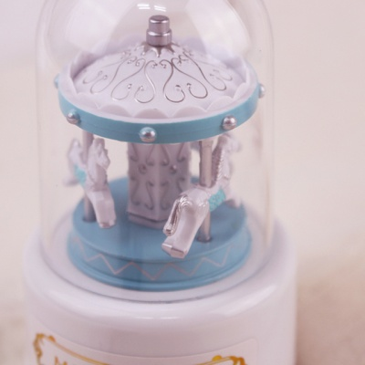 미니돔 회전목마 오르골 - 블루(SK52)