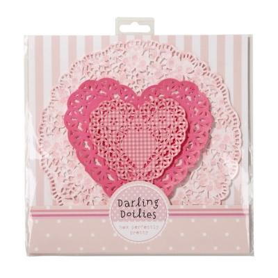 [TT] 수입 꽃무늬 도일리 페이퍼 - 핑크 하트
