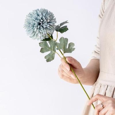 한송이 민들레조화 블루 고급조화 조화장식 인조꽃