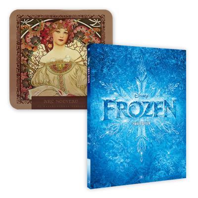 디즈니겨울왕국컬러링북+아르누보72색틴케이스색연필
