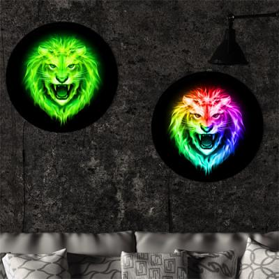 nh390-LED액자45R_카리스마넘치는빛나는사자