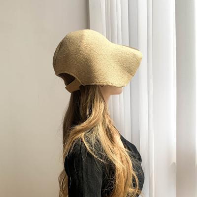 한지니트 벨크로 슬림 벙거지 모자 3color