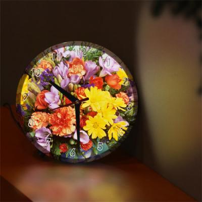 nf495-LED시계액자25R_화사함가득한꽃