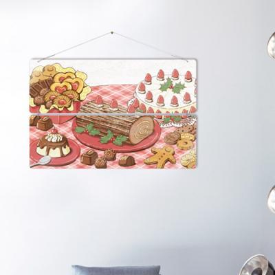 nl856-멀티아크릴액자_맛있는음식일러스트2(2단대형)