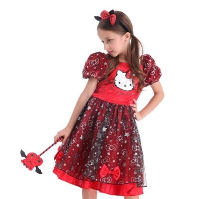 캣 레드마녀 드레스