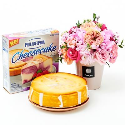 필라델피아 치즈케익 라즈베리 스월(794g)+그레이스 블러썸
