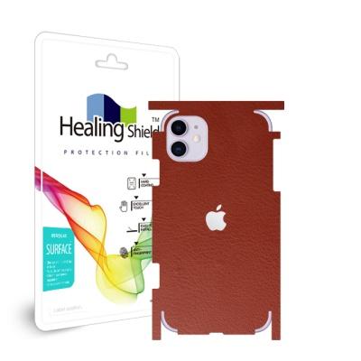 아이폰11 레더브라운 외부보호필름 후면2매