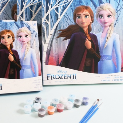 디즈니 DIY 명화그리기 겨울왕국 5종 유화