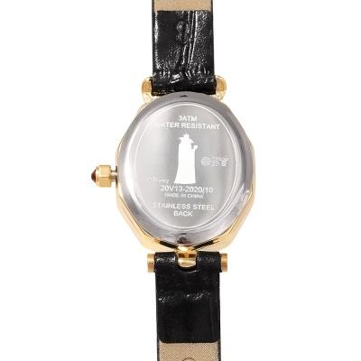 [디즈니 빌런] 이블퀸 티아라 프레임 가죽시계