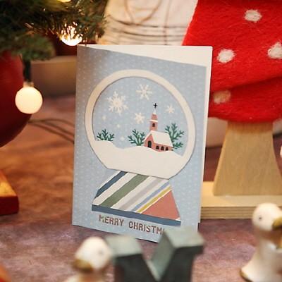 하베스터 크리스마스 카드 - 스노우 글로브