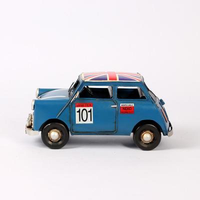 아날로그 빈티지 블루 자동차 1개