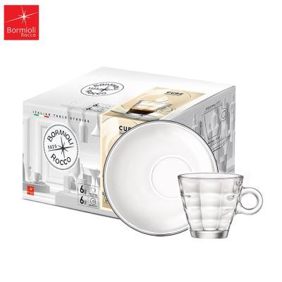 큐브 에스프레소 세트(컵+받침) [보르미올리]
