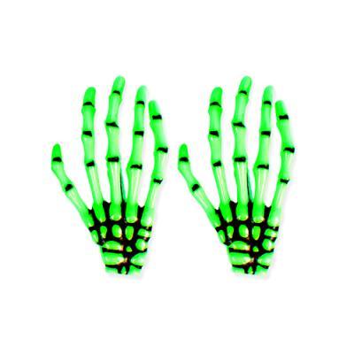 초록 뼈손 헤어핀 2개 (1set)