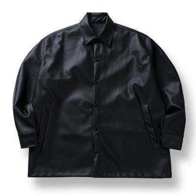CB 레더 코치자켓 (블랙)