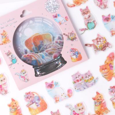 [금박] 고양이 화보촬영 요술램프 스티커팩