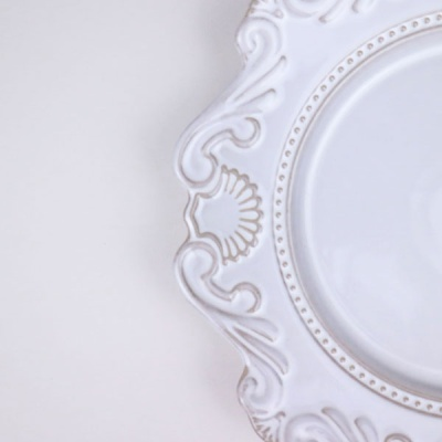 온나 바로크 대형 샐러드그릇 브런치 접시 플레이팅