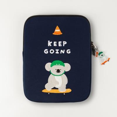 """자수 노트북파우치_Keep going pliko(ipad 11/13/15"""")"""