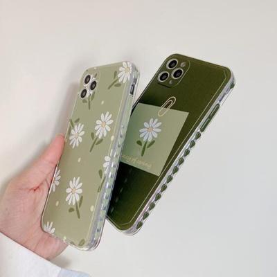 아이폰12 11 pro max xs 8 감성 그린 데이지 폰케이스