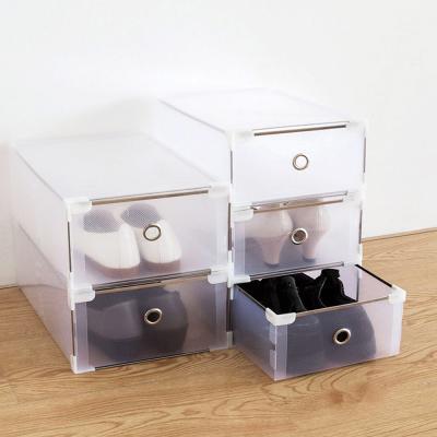 투명 신발 정리대 수납 보관함 정리함 상자 케이스